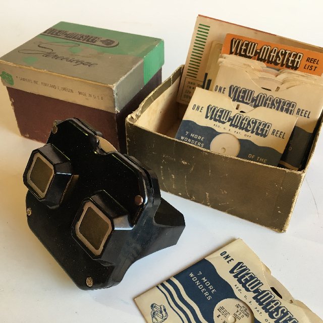VIE0001 VIEWMASTER, 1950s Complete Set in Box $22.50