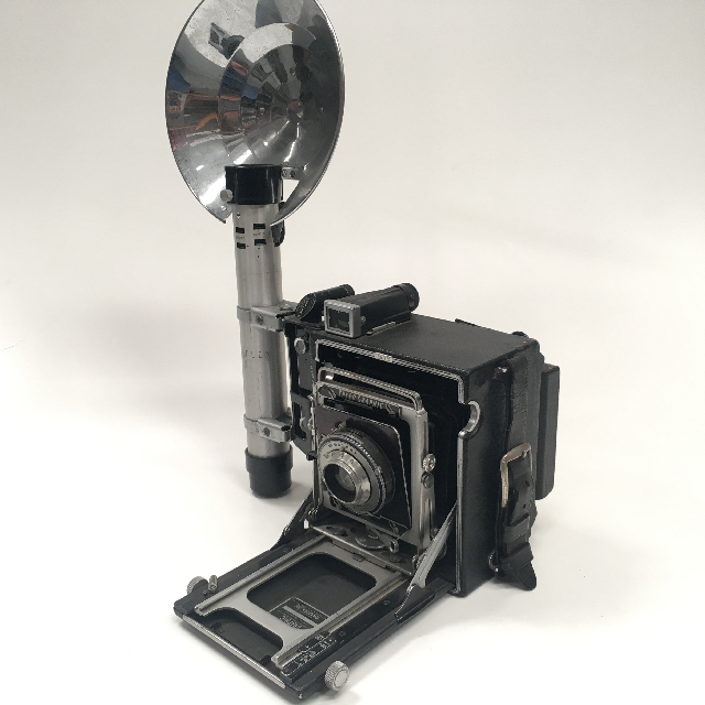 CAM0003 CAMERA, Vintage Press Camera - 1920s Black Case $112.50