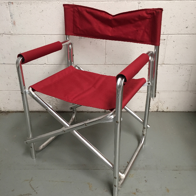 CHA0541 CHAIR, Directors Chair - Red Aluminium $12.50