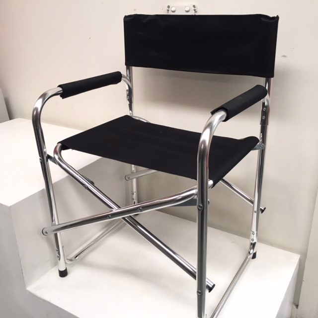 CHA0530 CHAIR, Director's Chair - Black Aluminium $12.50