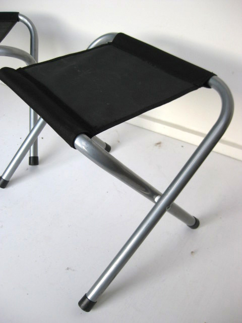 STO0201 STOOL, Camp - Folding Black, Aluminium $8.75