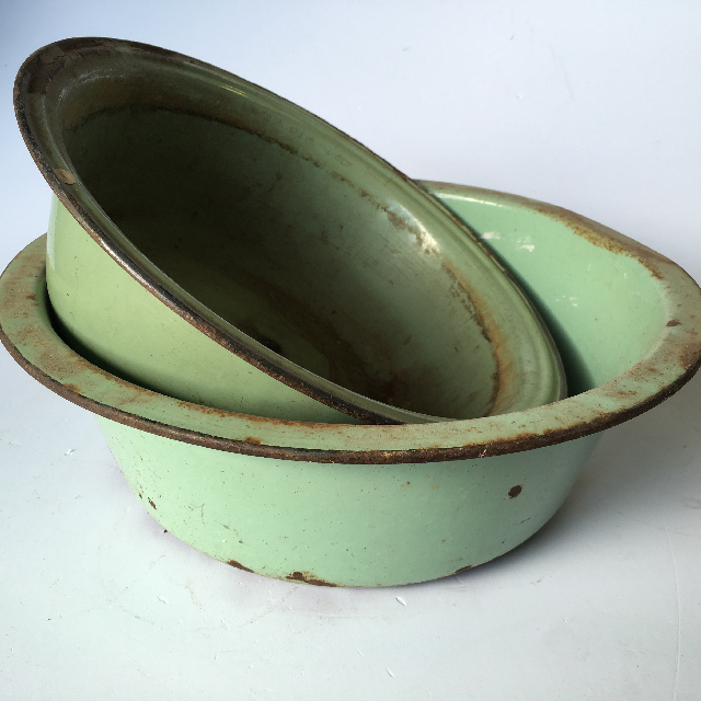 ENA0003 ENAMELWARE, Bowl - Wash Bowl Green $13.75