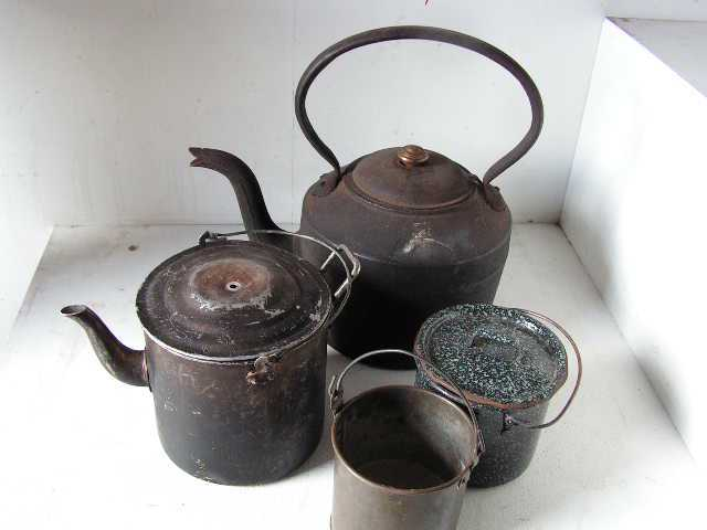 Assortment of Camp Kettles & Billys