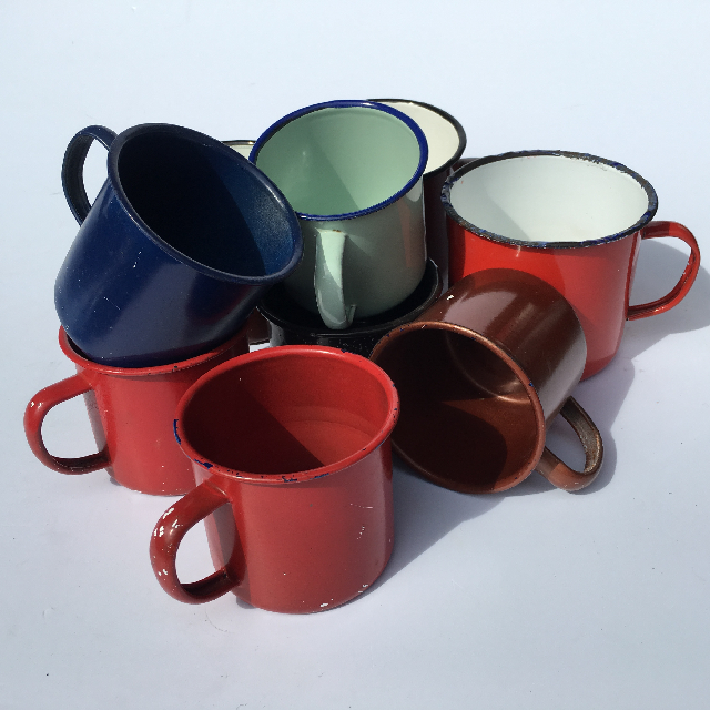 MUG0002 MUG, Enamel Coloured - Assorted Mug or Cup $1.25