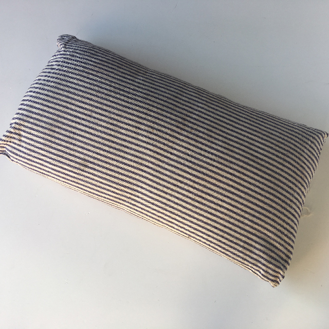 PIL0001 PILLOW, Blue & White Ticking Stripe Fabric $15