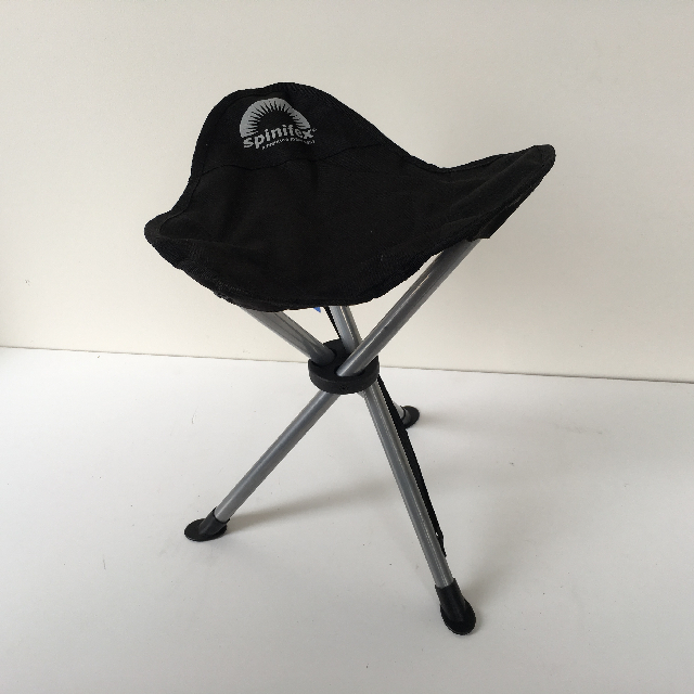 STO0213 STOOL, Camp - Folding - Black 3 Leg $7.50