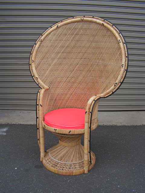 CHA0206 CHAIR, Peacock chair - Cane Large 1.5m H $62.50 (optional cushion)