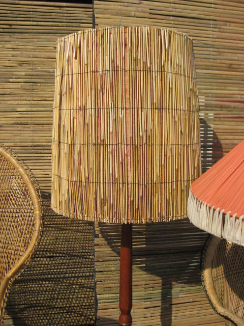 LAM0104 LAMP, Lampshade - Cane/Wicker Large $15
