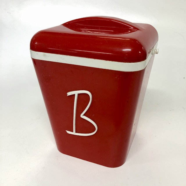 CAN0175 CANNISTER, 1950's Red (1 only) $6.25