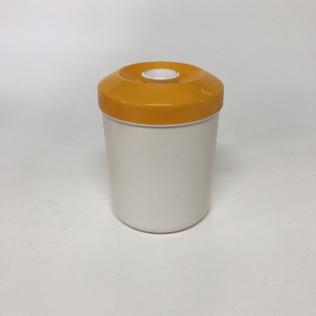STO0417 STORAGE CONTAINER, Plastic Golden Yellow Lid $3.75