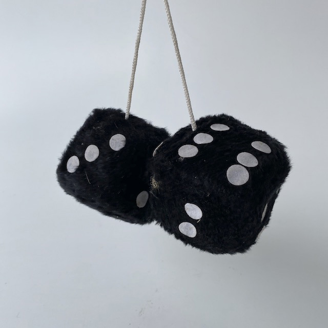 CAR0123 CAR ACCESSORY, Fluffy Dice - Black $3.75