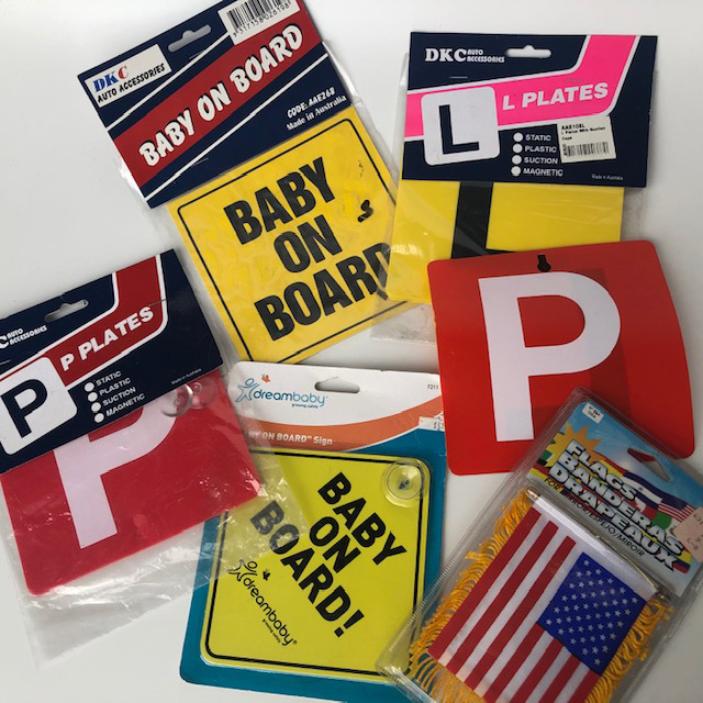 CAR0133 CAR ACCESSORY, Sign or Flag $3.75