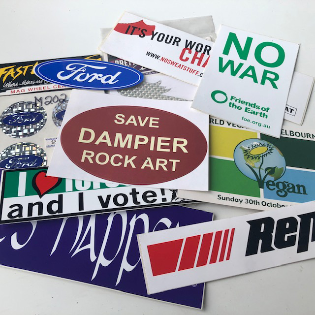 CAR0134 CAR ACCESSORY, Stickers & Logos Assorted $1.25