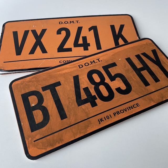 NUM0013 NUMBER PLATE, Orange Black (Single) $10