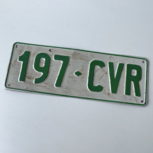 NUM0016 NUMBER PLATE, Queensland or Vic - White Green Generic (Single) $10