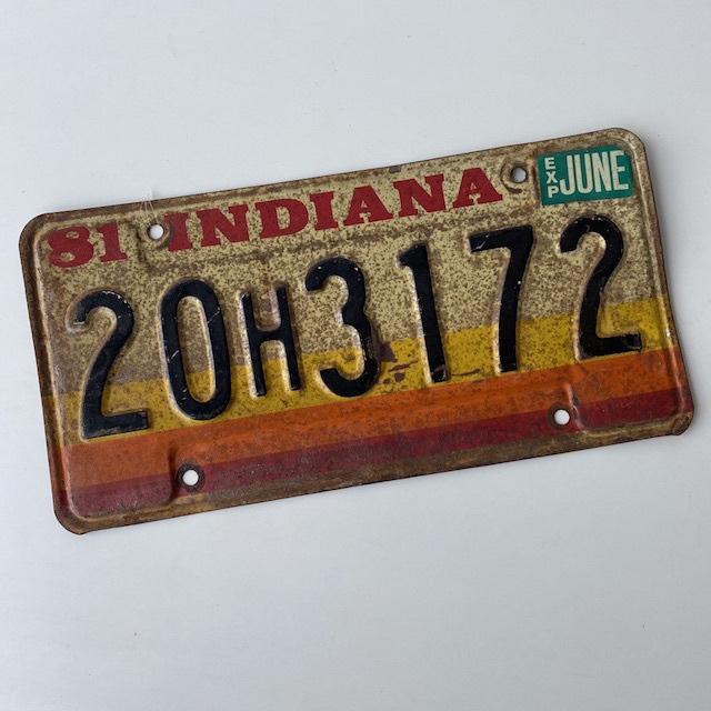 NUM0025 NUMBER PLATE, USA - Indiana $12.50