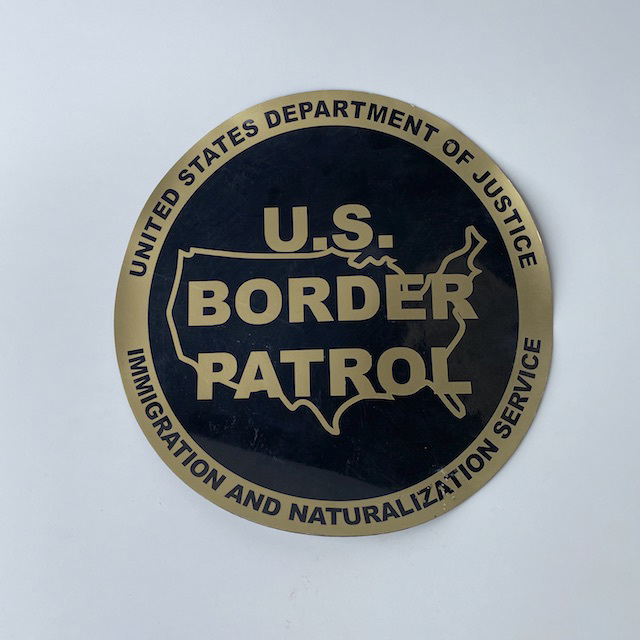 SIG0094 SIGN, Border Patrol (Magnetic) $18.75