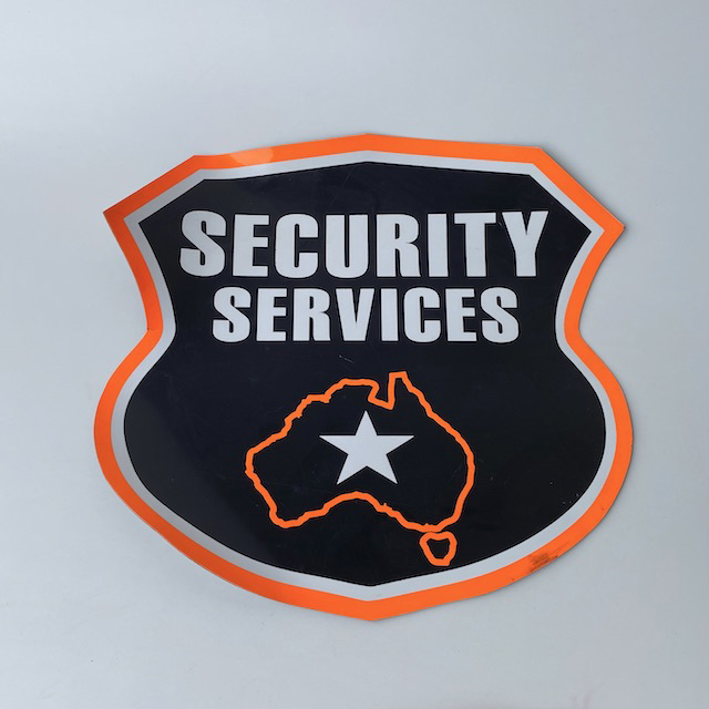 SIG0113 SIGN, Security Services (Magnetic) $18.75