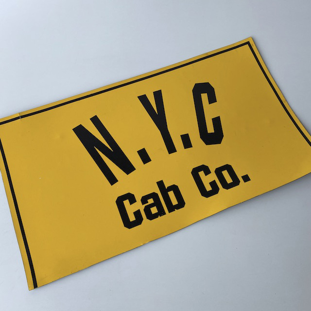 SIG0092 TAXI SIGN, New York Cab Door (Magnetic) $18.75