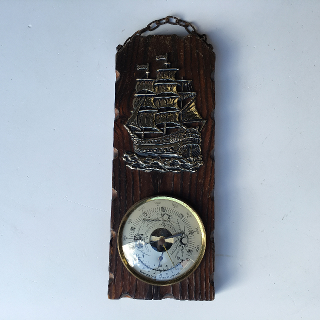 BAR0402 BAROMETER, Small Brass Ship Detail $6.25