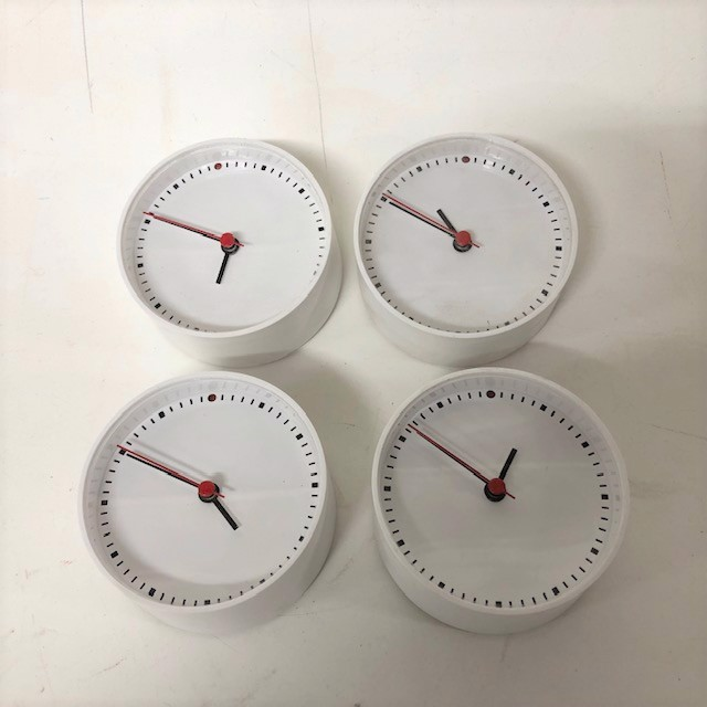 CLO0140 CLOCK, Alarm - White Contemp Small $5