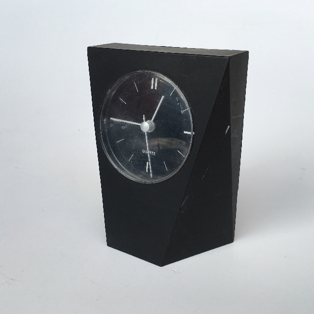 CLO0015 CLOCK, Alarm - Black Diamond Cut Quartz $4.50