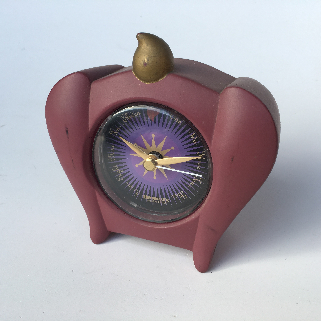 CLO0005 CLOCK, Alarm Novelty Purple Timescape $4.50