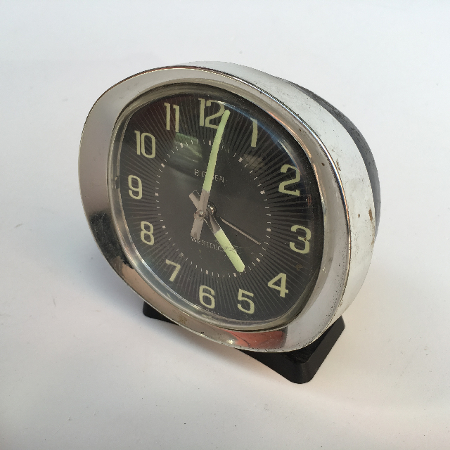 CLO0014 CLOCK, Alarm - Black & Chrome Westclox $5