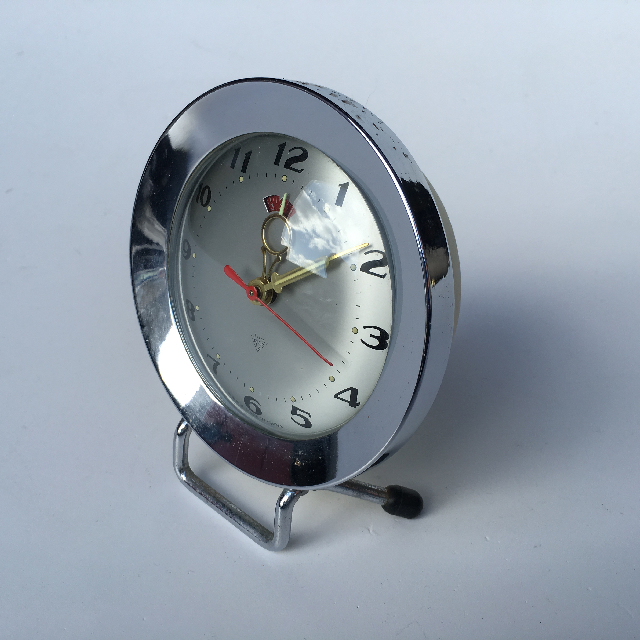 CLO0018 CLOCK, Alarm - Chrome $5