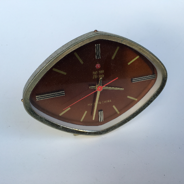 CLO0020 CLOCK, Alarm - Diamond Face Copper $5