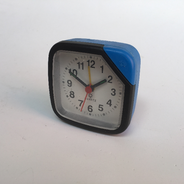 CLO0027 CLOCK, Alarm - Small Blue Quartz $4.50