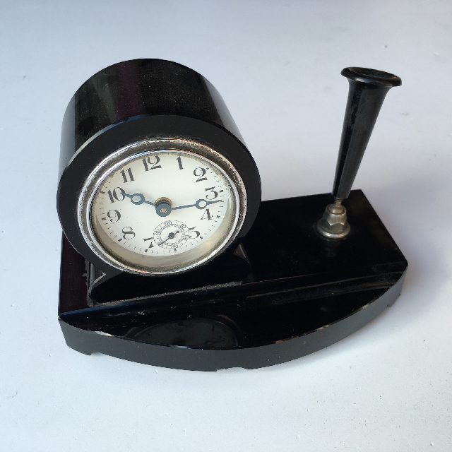 CLO0029 CLOCK, Desk Clock w Pen Holder $8.75
