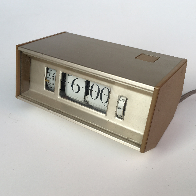 CLO0050 CLOCK, Flip Clock - 1980s Rose Gold $7.50