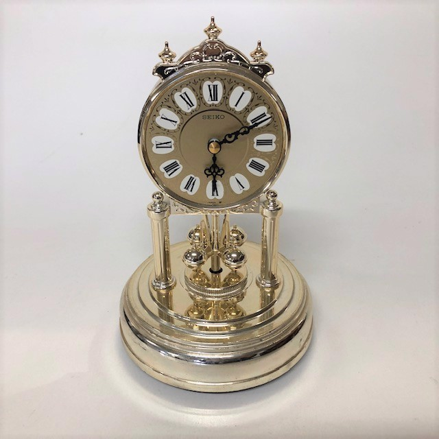 CLO0061 CLOCK, Mantel Clock Gold $12.50