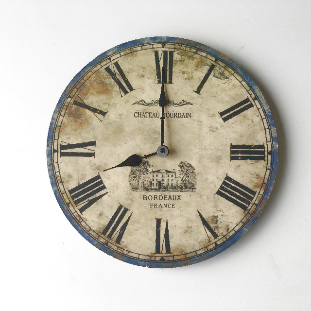 CLO0114 CLOCK, Wall Mount - Provincial 35cm Chateau $7.50