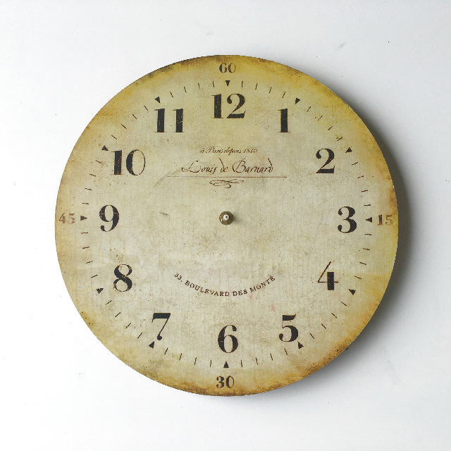 CLO0116 CLOCK, Wall Mount - Provincial 35cm Numerals (No Hands) $6.25