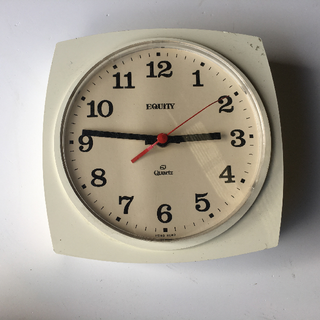 CLO0094 CLOCK, Wall Mount - 1980s White Equity $7.50