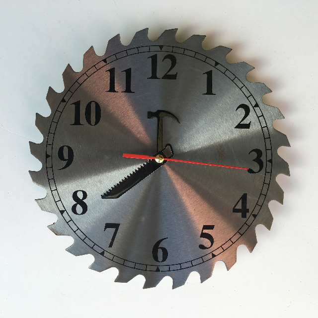 CLO0098 CLOCK, Wall Mount - Circular Saw $7.50