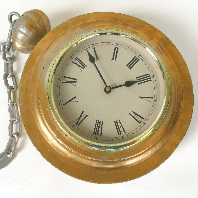 POC0001 POCKET WATCH, Oversize Gold 35cm diameter w Chain $37.50