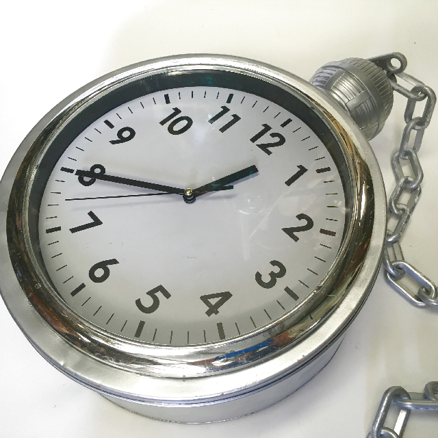 POC0003 POCKET WATCH, Oversize Silver 35cm diameter w Chain $37.50