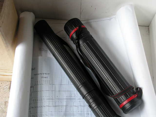 PLA0150 Plans $5 & PLA0151 Plan Tubes $7.50 (Architect / Construction)