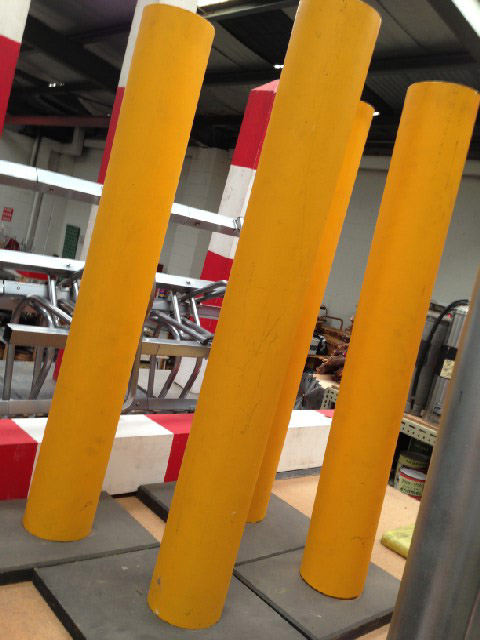 BAR0561 BARRIER POLE, Safety - Yellow $22.50