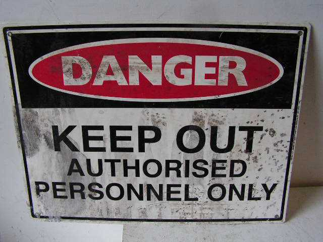 SIG0301 SIGN, Construction - Keep Out (Version 1) $12.50