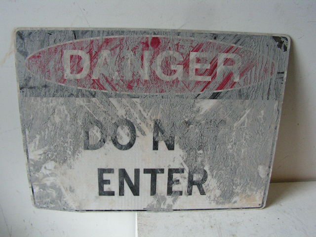SIG0306 SIGN, Construction - Do Not Enter $12.50