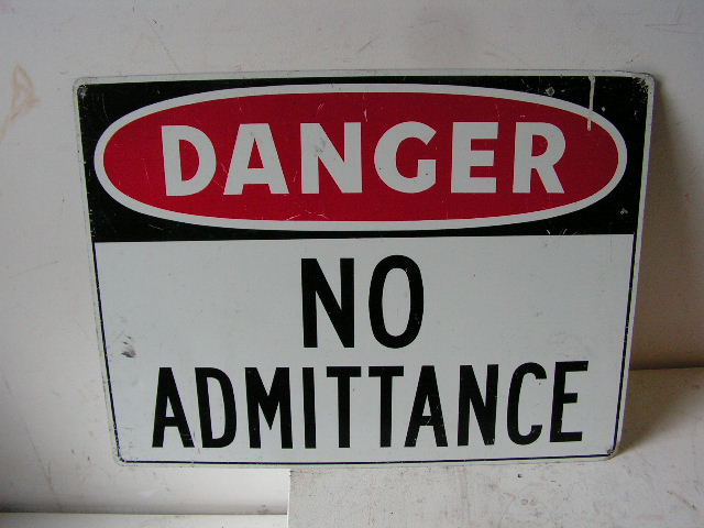 SIG0309 SIGN, Construction - No Admittance $12.50