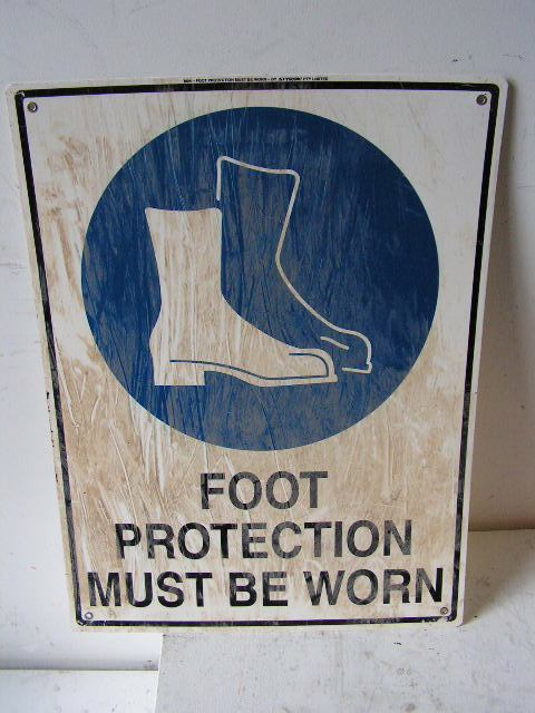 SIG0318 SIGN, Construction - PPS Foot Protection $11.25