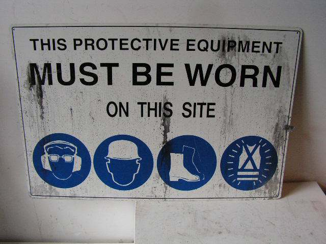 SIG0323 SIGN, Construction - PPS Protective Equipment $11.25