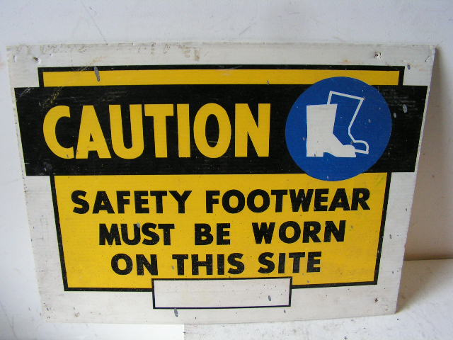 SIG0328 SIGN, Construction - Yellow Footwear $12.50