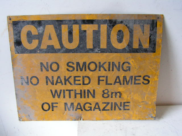 SIG0329 SIGN, Construction - Yellow No Smoking $12.50