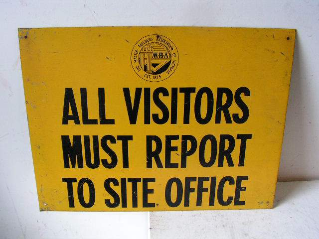 SIG0334 SIGN, Construction - Yellow Visitors Report $12.50